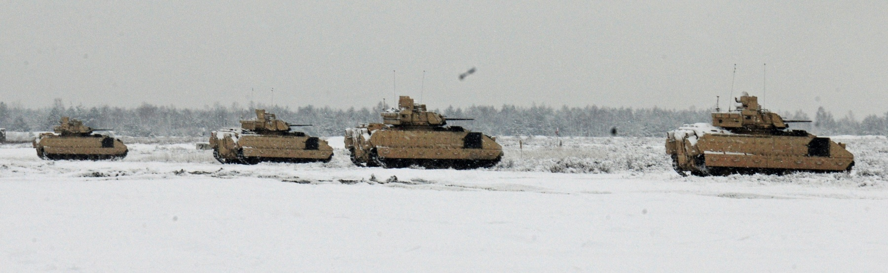 Poland. US troops conduct first gunnery range